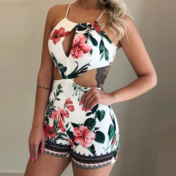 Overalls Holiday Skinny Sleeveless Casual Romper