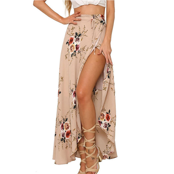 Hight Waist High Split Charm Maxi Sexy Skirt