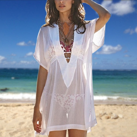 Long Summer Cover Beachwear Beach Blouse