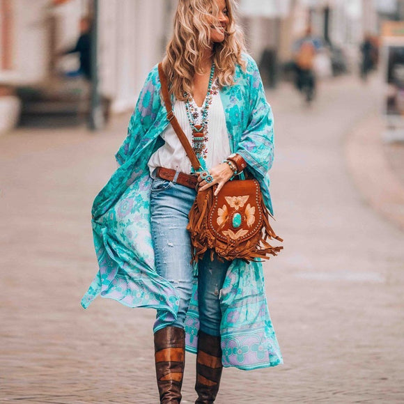 Blue Cover Robe Blouse