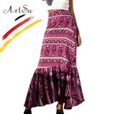 High Waist Boho Long Skirt