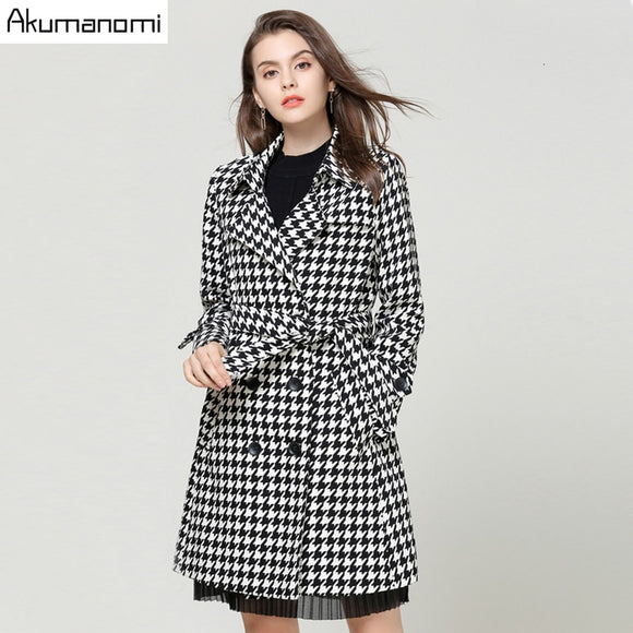 Turn-down Collar Trench Coat