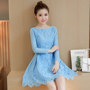 Bodycon Lace Korean Dress