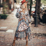 Sprign V-neck Long Summer LongSleeve Dress