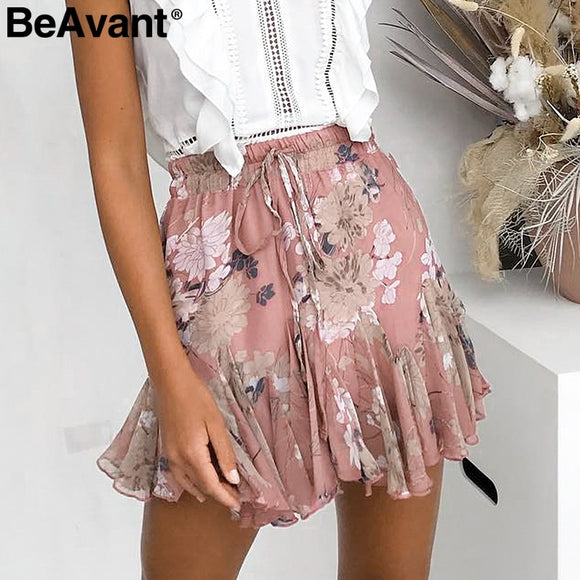 Chiffon High Bohemian Skirt