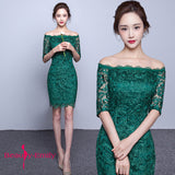 Short Lace Elegant Dress