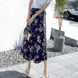 Boho Women Flower Long Summer  Skirt