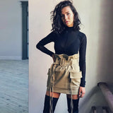 Solid Empire Casual Bud Skirt