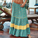 Beach Vestidos Festa Summer Floral Skirt