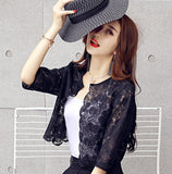 Half Sleeve Lace Shrug