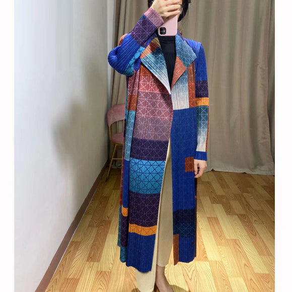 Stand Trench Autumn Printed Cardigan