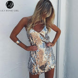 Backless Party Strap Short Dress