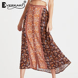 Floral Print Summer Beach Gypsy  Skirt