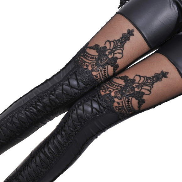 Stretch Skinny Leg Lace Leggings