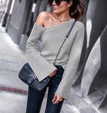 Solid Knitted Elegant Strapless Top