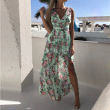 Hem Long Vestidos Summer Dress