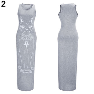 Vest Tank Maxi Dress  Sexy and Casual Beach Sundress