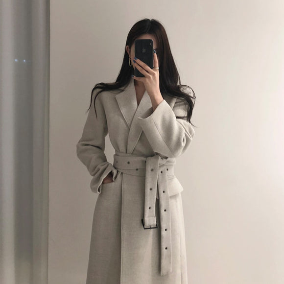 Office Fashion Long Woolen Coat
