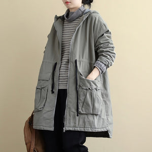 Retro Women Trench Casual Winter