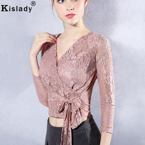 Lace Sleeve T-shirts Bottom Shirt
