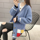 Jacket Knitted Sweater Plus