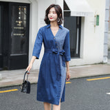 Casual Waist Spring Denim Dress