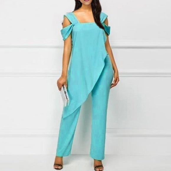 Solid Color Slim Jumpsuit