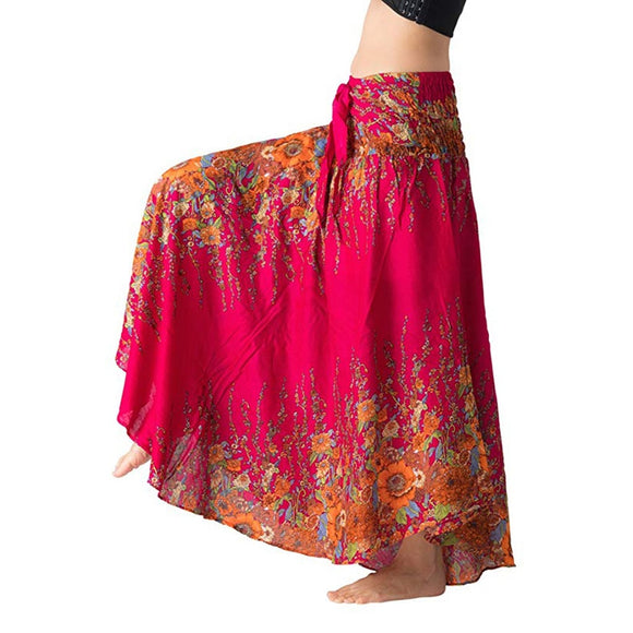 Floral Cotton Design Gypsy Waist Skirt