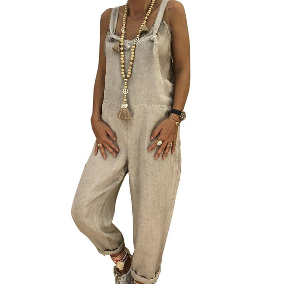 Pants Color Harem Jumpsuit