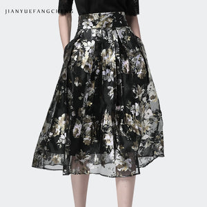 Size Jupe High Skirts Waist Skirt