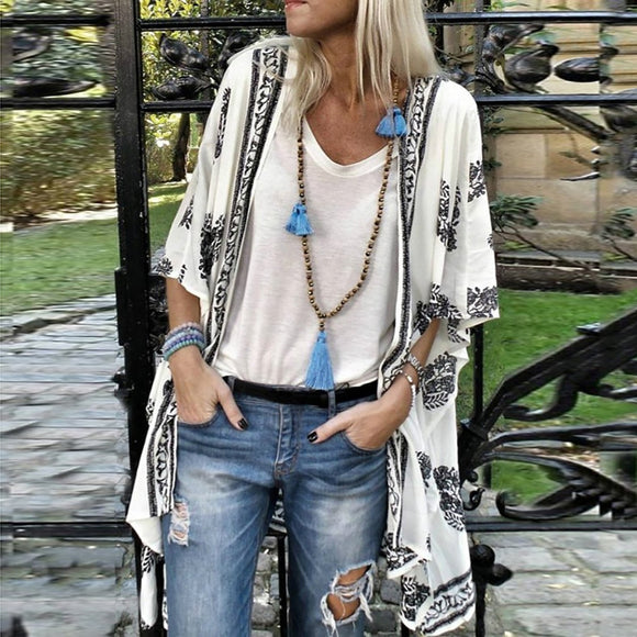 Summer Fashion Boho Print  Cardigan