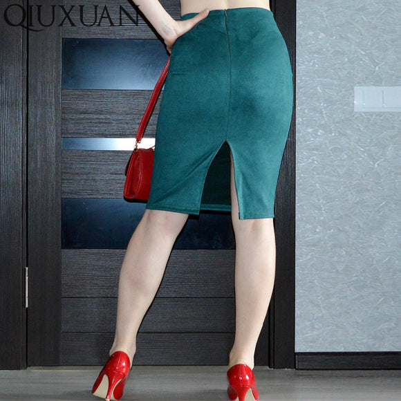 Skirts Lady Suede Waist Plus Skirt