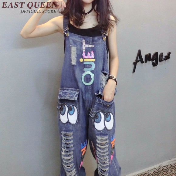 Jeans Denim Jumpsuit Cartoon Jumpsuit