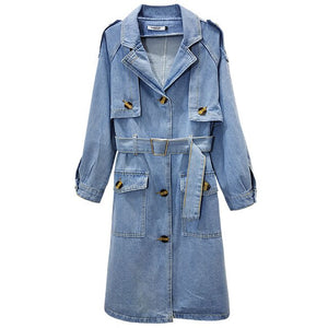 Denim Trench With Street