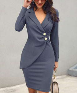 Casual Blazer Elegant Dress