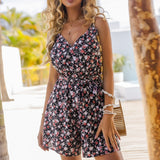Summer Beach Sleeveless Romper