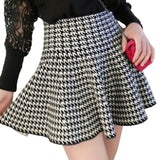Plain Winter Stretch Short Skirt