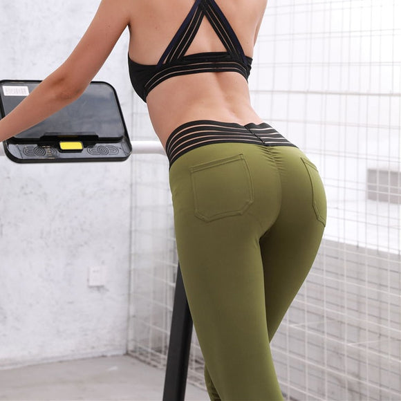 Ankle-length Polyester Waist Elasticity Leggings