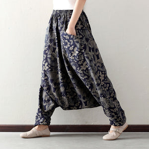 Fluid Casual Waist Elastic Low Pants