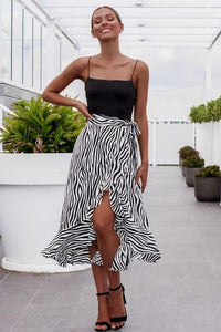 High A-lien Zebra Swimsuit Waist Skirt