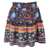 Mini Style Flower Boho Bohemian Skirt