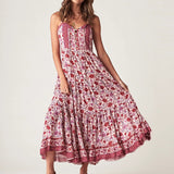 Print Sleeveless Sundress Strapppy Dress