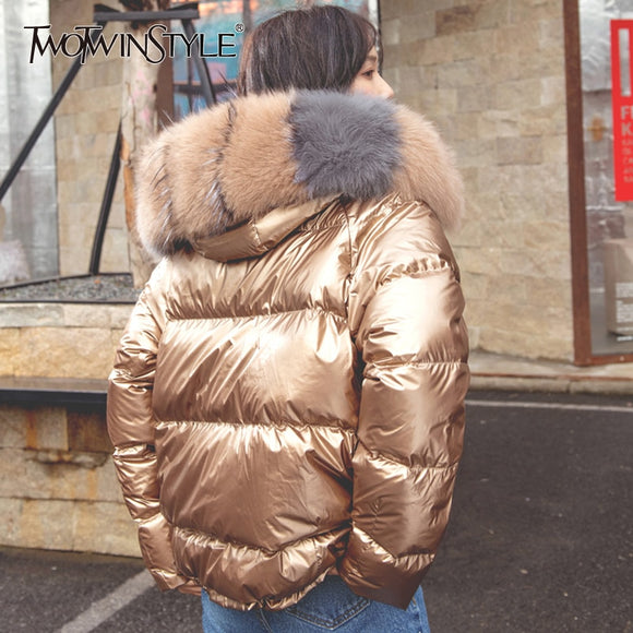 Zipper Long Coats Hood