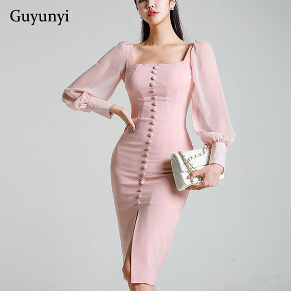 Chiffon Long-sleeved Spring Dress