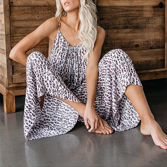 Waist Long Summer Sexy Casual Jumpsuit