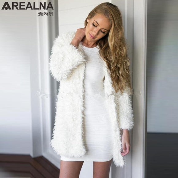 Fluffy Faux Fur Winter Coat