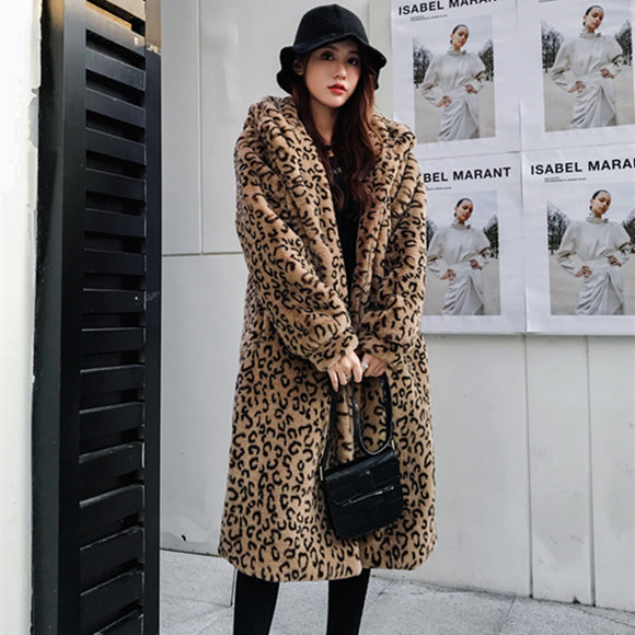 Faux Coats Warm Fur Long