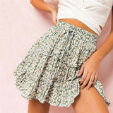 Cute Tulle High Floral Skirt