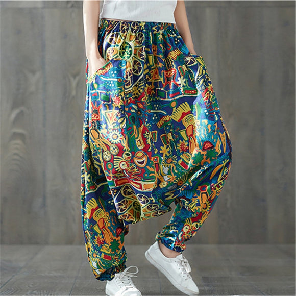 Print Hip Cotton Streetwear Pants
