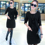 Pullover Two Long Sleeves Dress